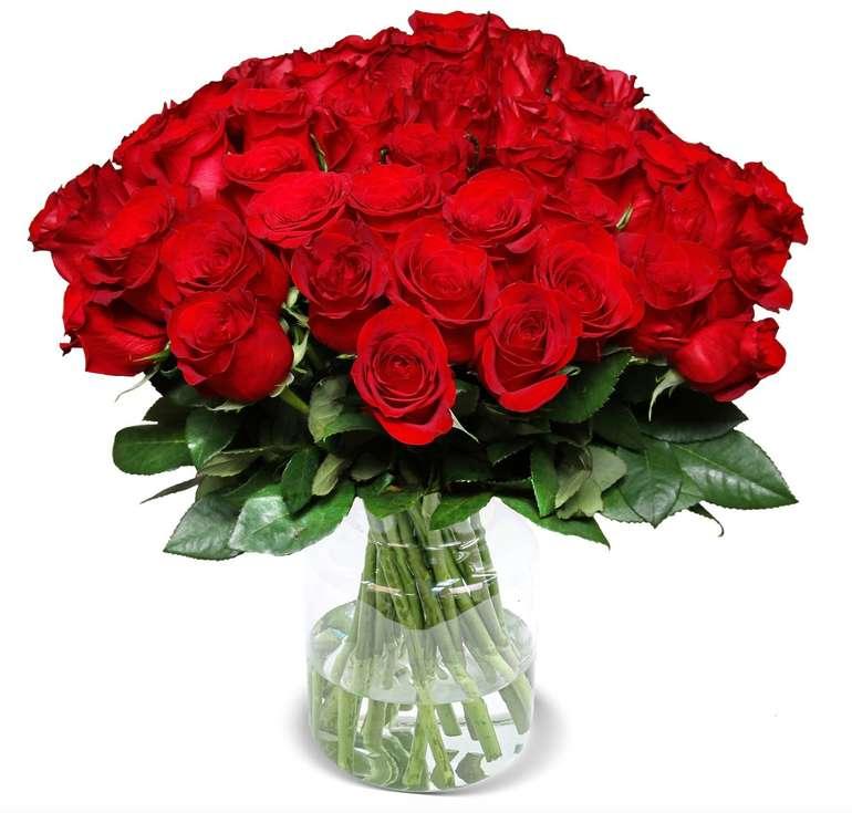 44 rote Rosen im Strauß für nur 25,98€ inkl. Versand (statt 44€)