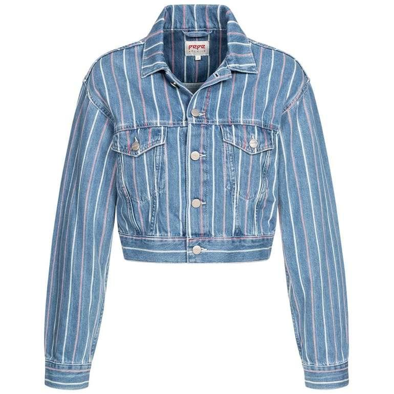Pepe Jeans Light Cropped Damen Jeansjacke für 27,94€ inkl. Versand (statt 65€)