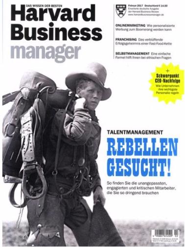 Harvard Business Manager Jahresabo für 188,50€ + 138,50€ Verrechnungsscheck