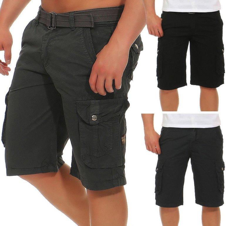 Azuonda AZ58 Herren Cargo Shorts mit Gürtel für je 19,90€ inkl. Versand