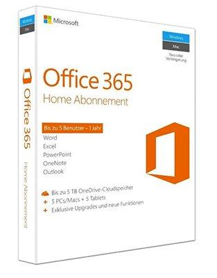 Microsoft Office 365 Home für 49,99€ inkl. VSK (statt 63€) – 1 Jahr für 5 PC