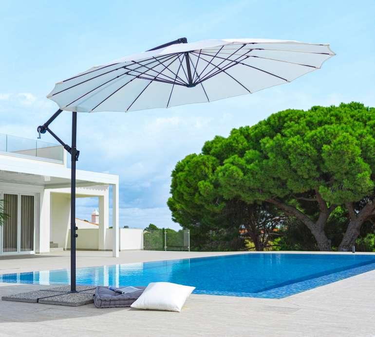 Modern Living Ampelschirm Marbella in Naturfarben (Spannweite: ca. 290cm) für 77,88€ inkl. Versand (statt 105€)