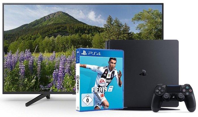 Sony KD-65XF7005 UHD 4K TV + PS4 Slim 500GB + Fifa 19 für 999€ (statt 1.314€)