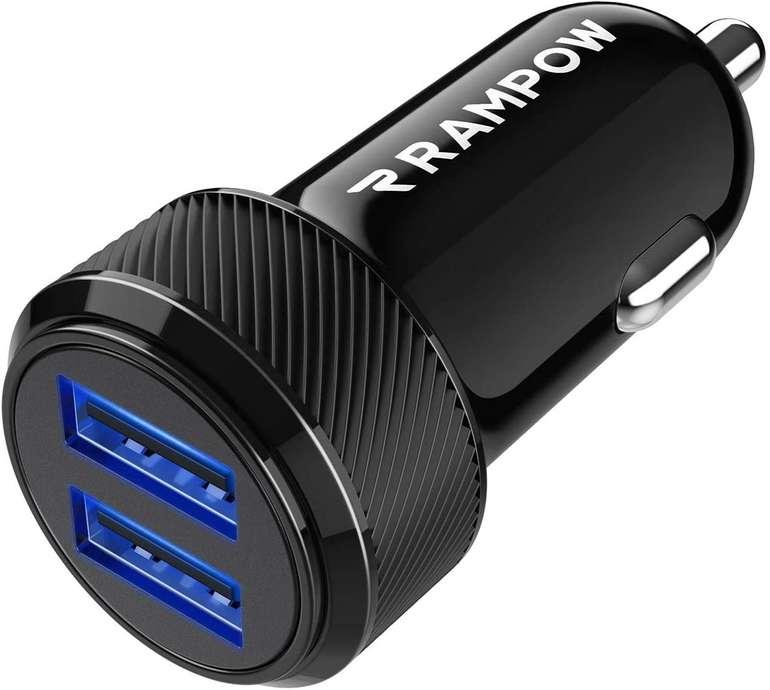 Rampow KFZ Ladegerät mit 2 USB-Ports für 4,49€ inkl. Prime Versand (statt 9€)