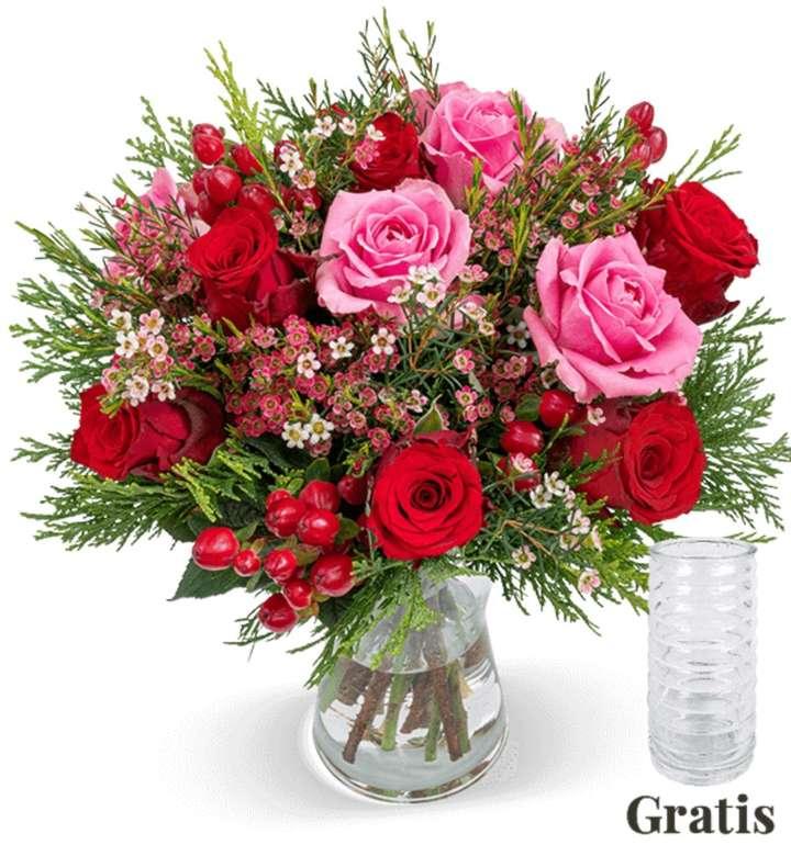 Rosenstrauß Winterzauber + gratis Vase für 24,98€ inkl. Versand (statt 35€)