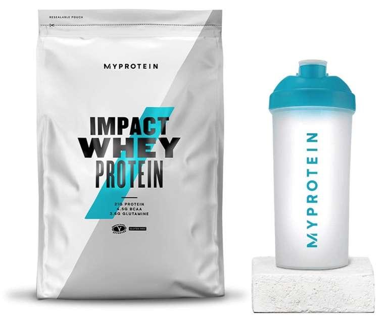 1kg Impact Whey (Karamell, Erdnuss, Schoko, Vanille, Erdbeere) + Shaker für 10,99€ inkl. Versand