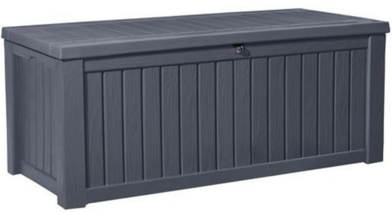Keter Rockwood Kissenbox (570 Liter, wasserdicht, witterungsbeständig) für 129€