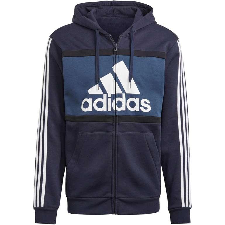 Adidas Essentials Sweatjacke für Herren in Blau und Schwarz für 37,51€ inkl. Versand (statt 43€)