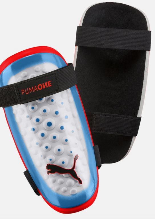 """Puma Schienbeinschoner """"One 5"""" in rauchblau / rot / weiß für 7,57€ inkl. Versand"""