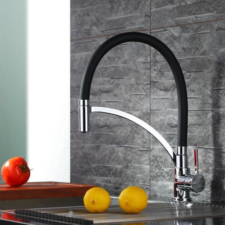 Schwarzer Homelody Wasserhahn für die Küche nur 39,99€ inkl. Versand (statt 72€)