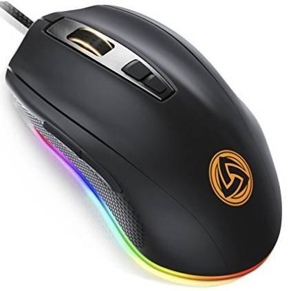 Ludos Flamma RGB Gaming Maus (500 bis 10.000 DPI) für 14,95€ (statt 19,90€)