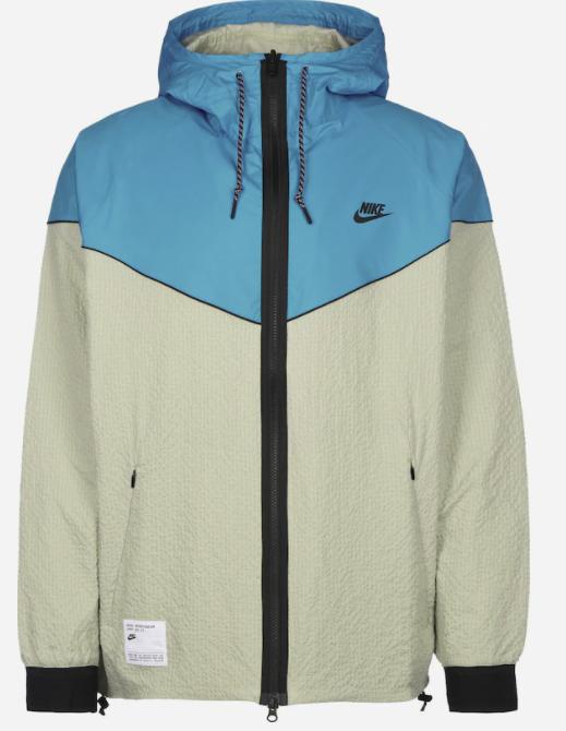 Nike Sportswear Herren Jacke in creme/türkis für 57,90€inkl. Versand (statt 70€)