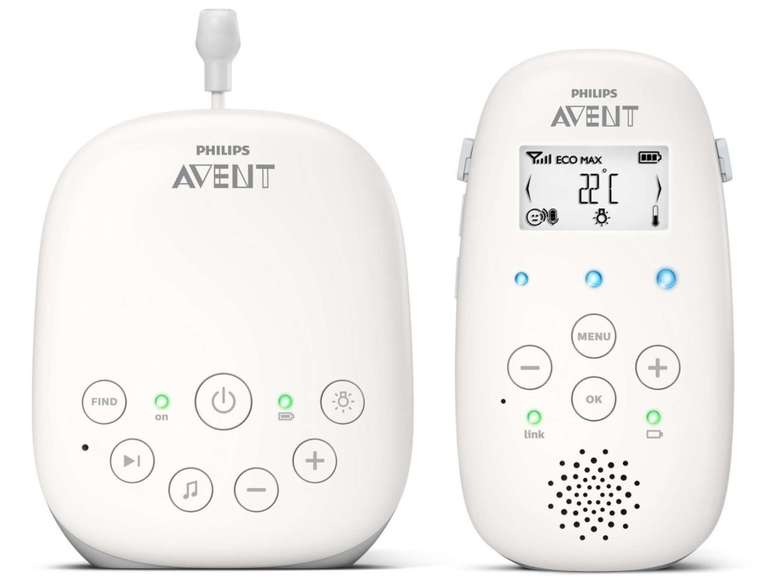 Philips Avent SCD713/26 Audio Babyphone (DECT-Technologie, Eco-Mode, Gegensprechfunktion) für 66,59€ (statt 87€)