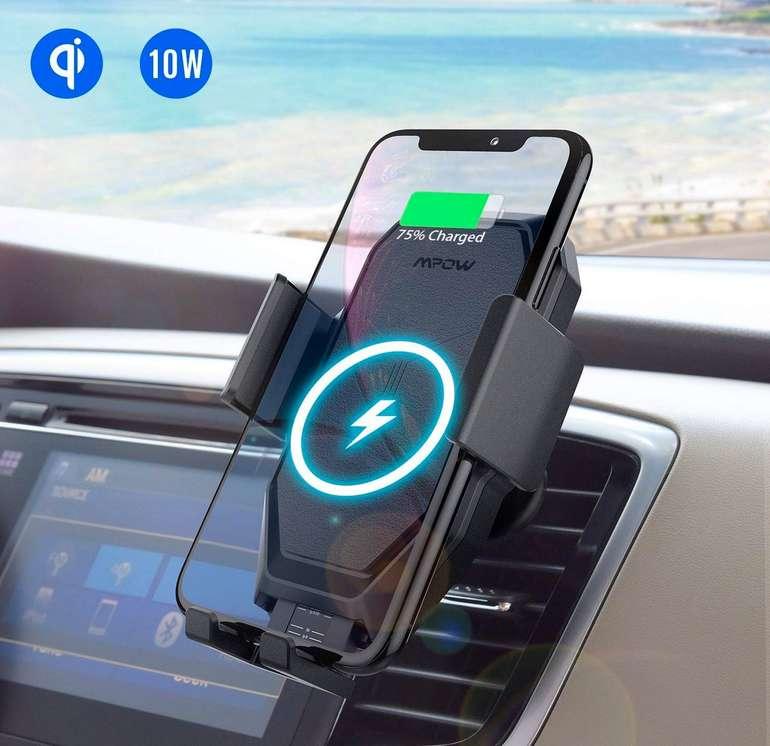 Mpow Qi Wireless Charger Autohandyhalterung für 11,99€ mit Prime Versand (statt 18€)
