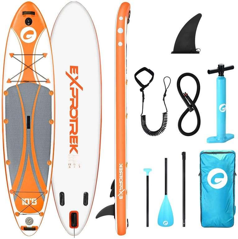 Exprotrek Stand Up Paddling Board inkl. Zubehörpaket in Orange & Blau ab 255,99€ inkl. Versand (statt 340€)
