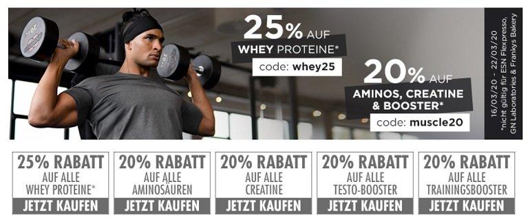 Fitmart mit 25% auf alle ESN Whey Proteine