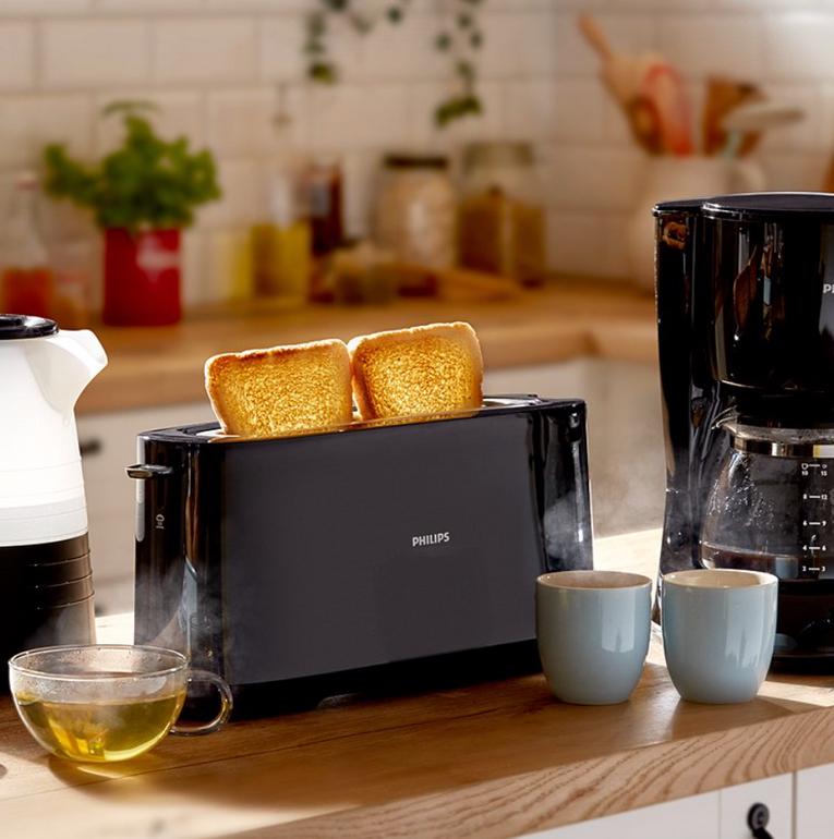 Philips Daily Collection HD2590/90 Langschlitz-Toaster für 22,94€ (statt 29€)