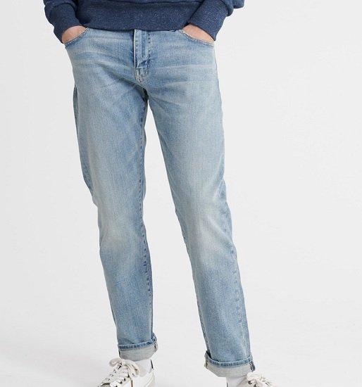 "Superdry Herren Jeans ""04 Daman"" in blue denim für 33,92€ inkl. Versand"
