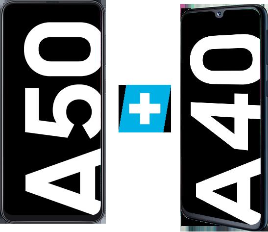 Samsung Galaxy A50 + Samsung Galaxy A40 für 349€ (statt 467€)