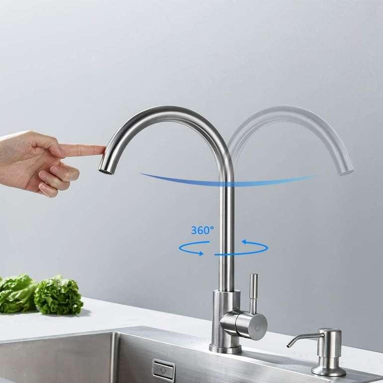 """Cecipa Küchenarmatur """"H205S"""" aus Edelstahl (360° Schwenkbar) für 17,49€ inkl. Versand (statt 30€)"""