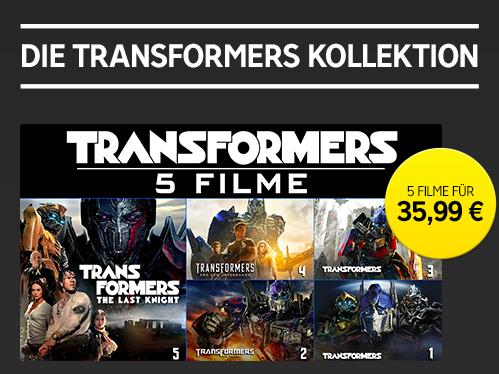 Transformers Kollektion Bundle (Teil 1 bis 5) in HD für 35,99€