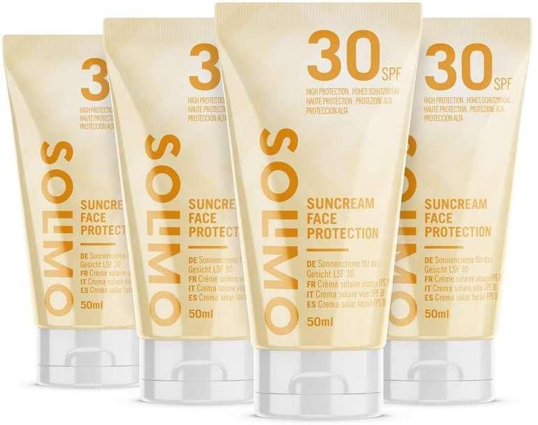 4er Pack Solimo Sonnencreme - LSF 30 mit Vitamin E Antioxidant 50ml für 3,21€ mit Prime Versand (statt 6€)