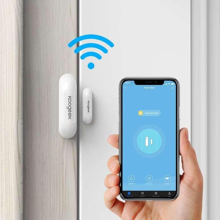 Koogeek WiFi Tür & Fenster Sensor (Alexa, Google Home kompatibel) für 12,99€ inkl. Prime Versand (statt 18€)