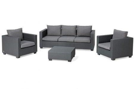 Allibert Lounge-Set Salta (3-Sitzer + 2 Sessel + Tisch) für 529,99€ inkl. VSK