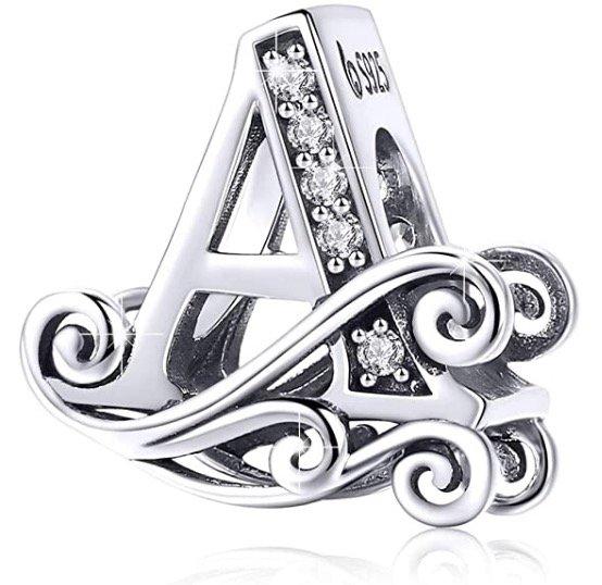 Bamoer Buchstaben-Schmuck (925 Sterling Silber) für 9€ (statt 15€) - Prime!