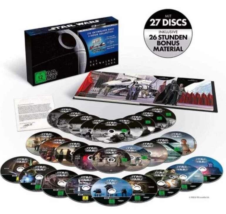 Star Wars 1 - 9 - Die Skywalker Saga 4K auf UHD Blu-ray für 169,41€ inkl. Versand (statt 192€)