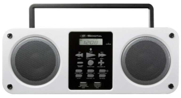 SDigital Mission Bluetooth Boombox (FM, Weiß) für 26,10€ inkl. Versand (statt 51€)