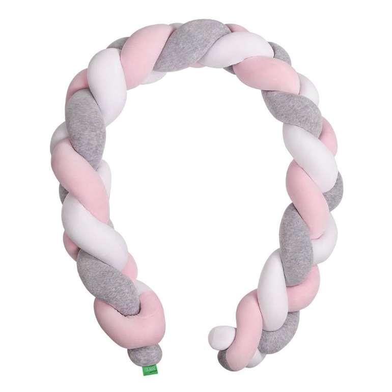 Lulando Nestchenschlange mit Zopfmuster (grau/rosa/weiß, 200 cm) für 46,99€ inkl. Versand (statt 55€)