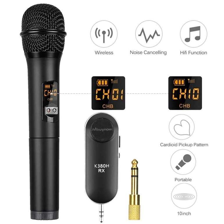 Mbuynow kabelloses Mikrofon K380D mit 10 Kanälen für 9,19€ inkl. Primeversand (statt 24€)