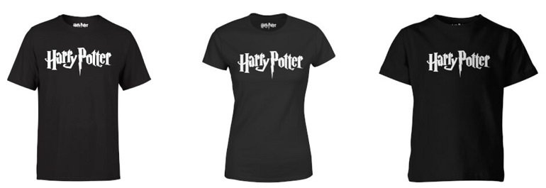 Harry Potter T-Shirt + 4er Set Untersetzer