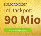 90 Mio. € bei EuroJackpot - Jetzt 5 Felder zum Preis von einem (Neukunden)