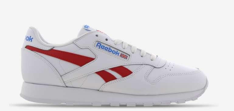 Reebok Classic Leather Herren Schuhe in weiß/rot für 39,99€inkl. Versand (statt 63€)