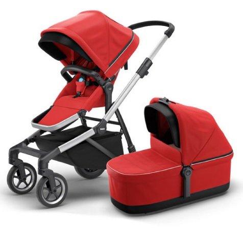 Thule Kombikinderwagen Sleek mit Babywanne Energy Red für 799,99€ inkl. Versand (statt 995€)