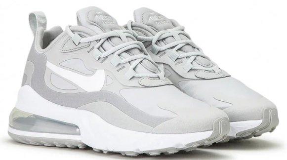 Nike Wmns Air Max 270 React Sneaker in grau/weiß für 74,88€ inkl. Versand (statt 100€)