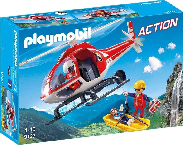Playmobil Blue Week mit Bestpreisen und keine Versandkosten - z.B. Bergretter-Helikopter für 9,99€ (statt 28€)