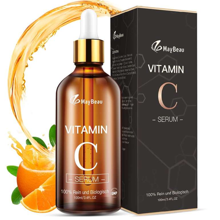 MayBeau 100ml Vitamin C Serum mit Hyaluronsäure + Vitamin E für 5,99€ inkl. Prime Versand (statt 12€)
