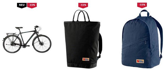 Engelhorn 15% Rabatt auf Outdoor, Bike & Sportstyles