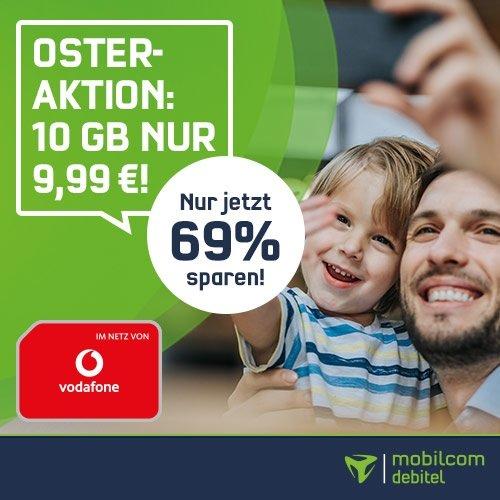 Oster Knaller! mobilcom-debitel Green 10GB LTE Allnet Flat im Vodafone-Netz für 9,99€/Monat
