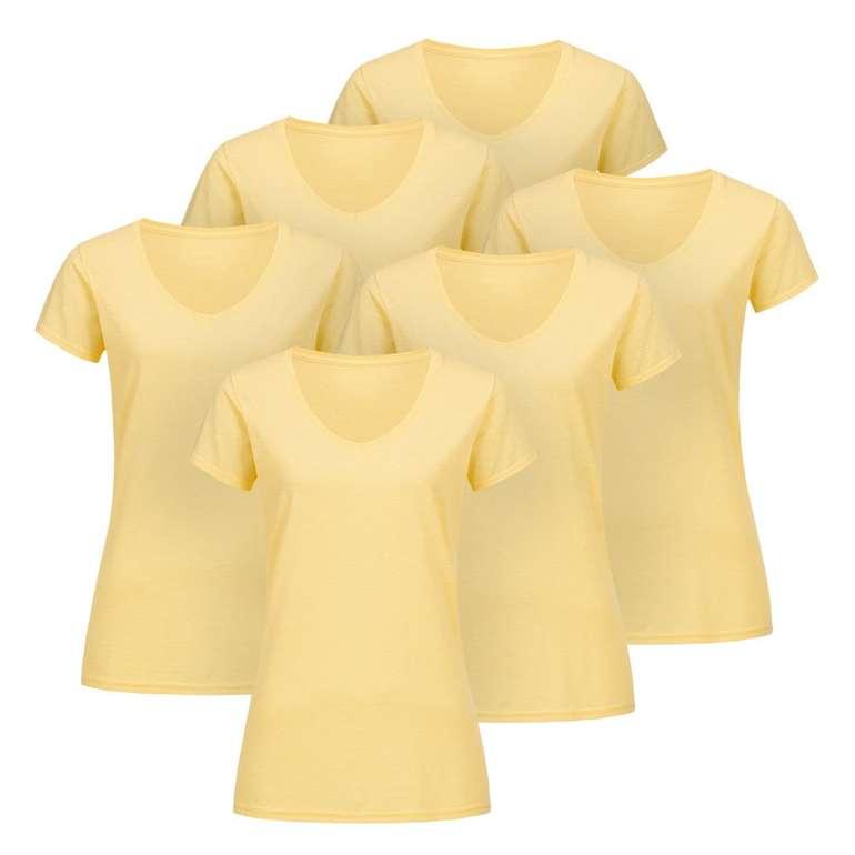 6er Pack Damen V-Neck T-Shirts für 8,95€ inkl. Versand (statt 17€)