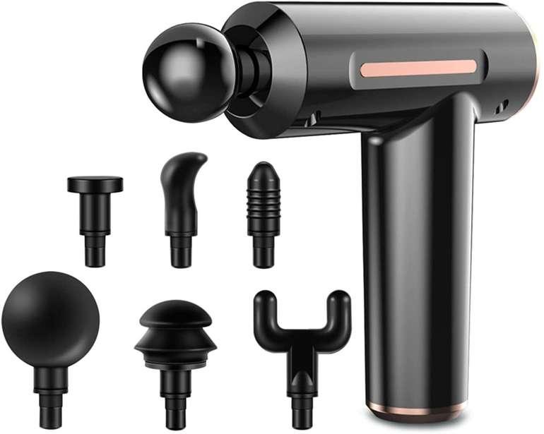 Anself Massagepistole mit 6 Aufsätzen für je 27,99€ inkl. Versand (statt 60€)
