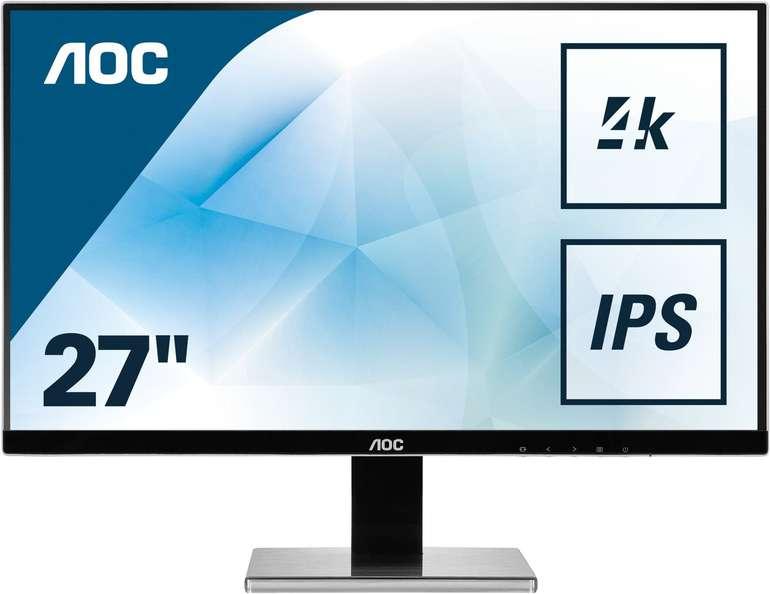 """AOC U2777PQU - 27"""" Monitor (IPS, 4K, 4ms, sRGB) für 279,20€ inkl. Versand (statt 316€)"""