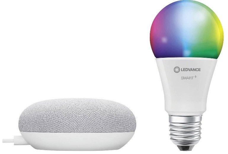 Verschiedene Ledvance Bundles reduziert, z.B. Google Home Mini + LED Classic E27 für 22€ (statt 54€)