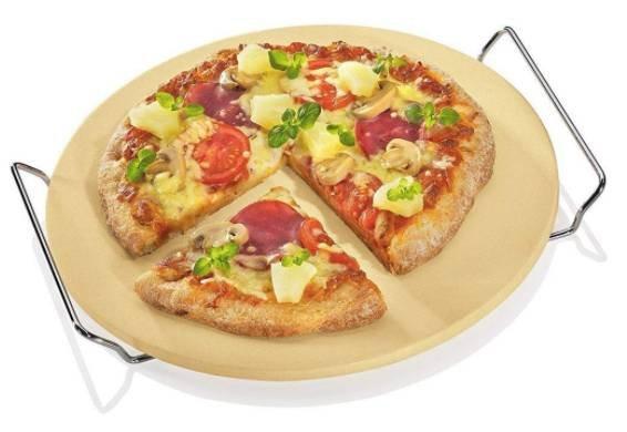 Berndes Pizzastein / Brotbackstein mit Chromgestell für 6,24€ (statt 20€) - 2 Stk. für 8,36€ usw.