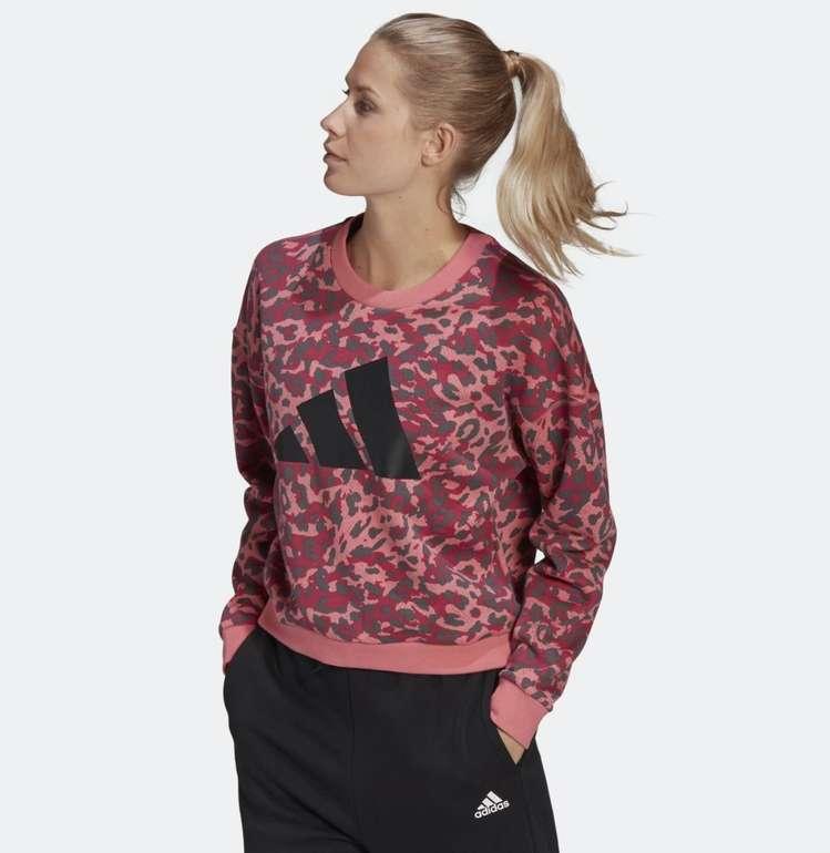 Adidas Sportswear Leopard-Print Damen Sweatshirt für 25,18€ inkl. Versand (statt 36€)
