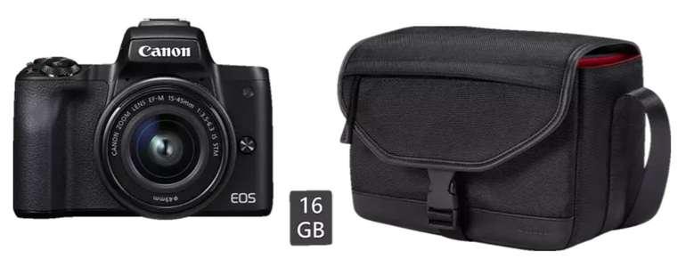 Canon EOS M50 Systemkamera + EF-M 15-45 mm Objektiv für 444€ inkl. Versand (statt 565€)