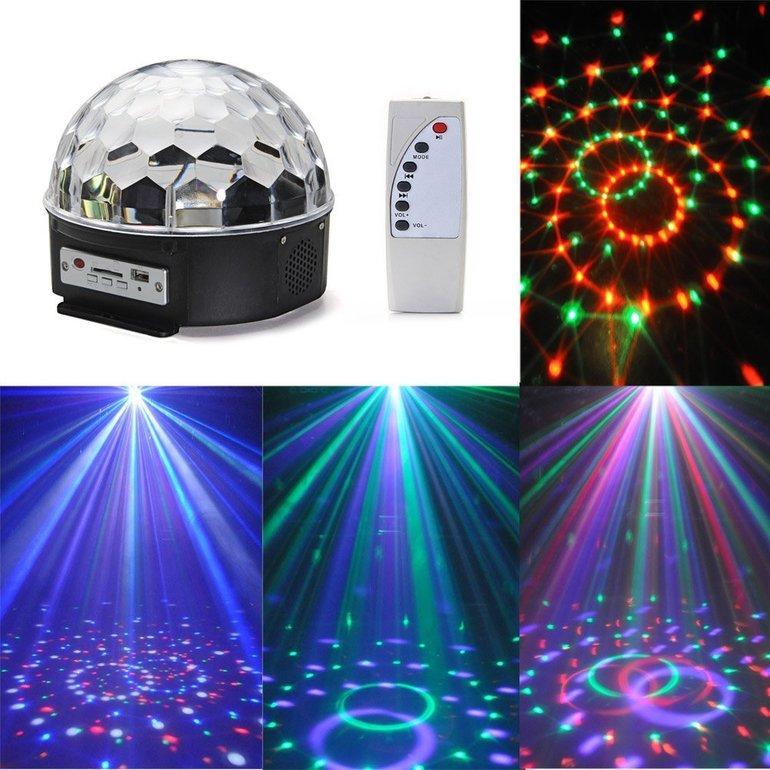 3 LED Produkte günstiger dank Gutschein - z.B. CroLED Discokugel für 13,99€